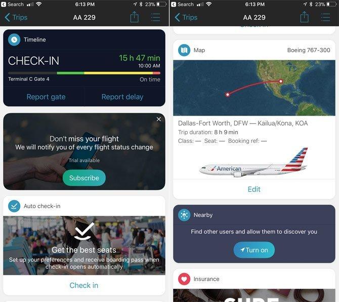 تطبيقات الرحلات الجوية