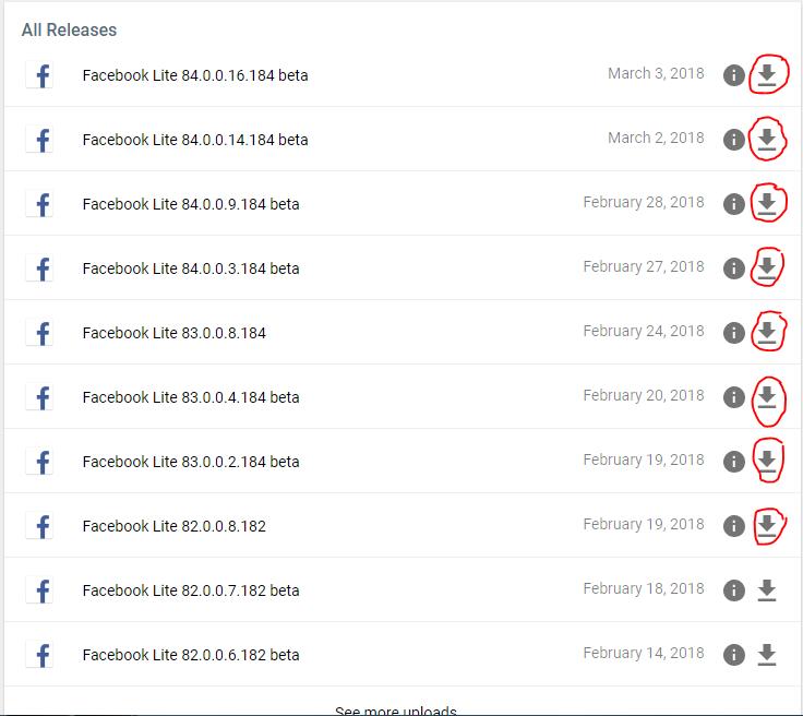 الفيسبوك لايت Facebook lite