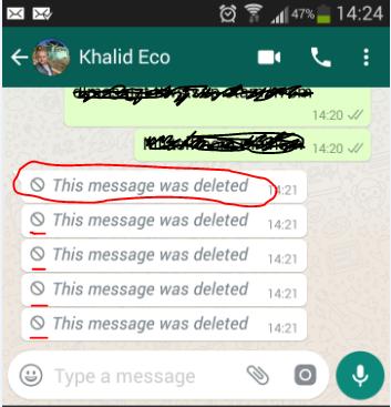 حذف رسائل الواتساب