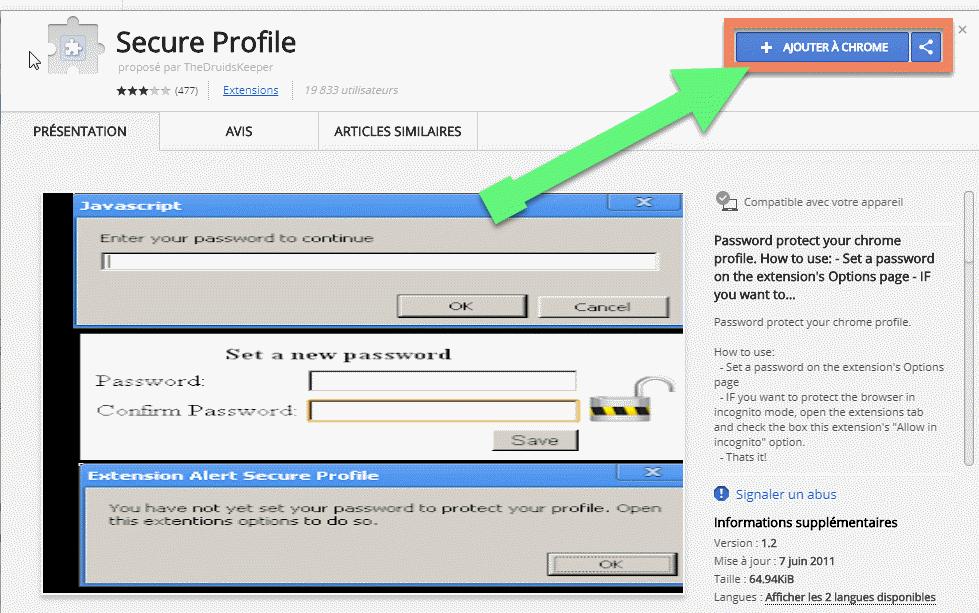 حماية متصفح جوجل كروم