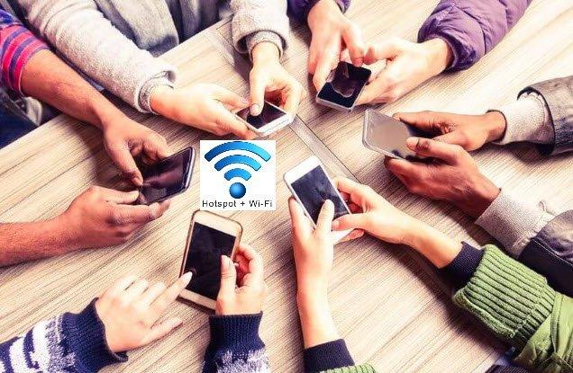 مشاركة اتصال الانترنت