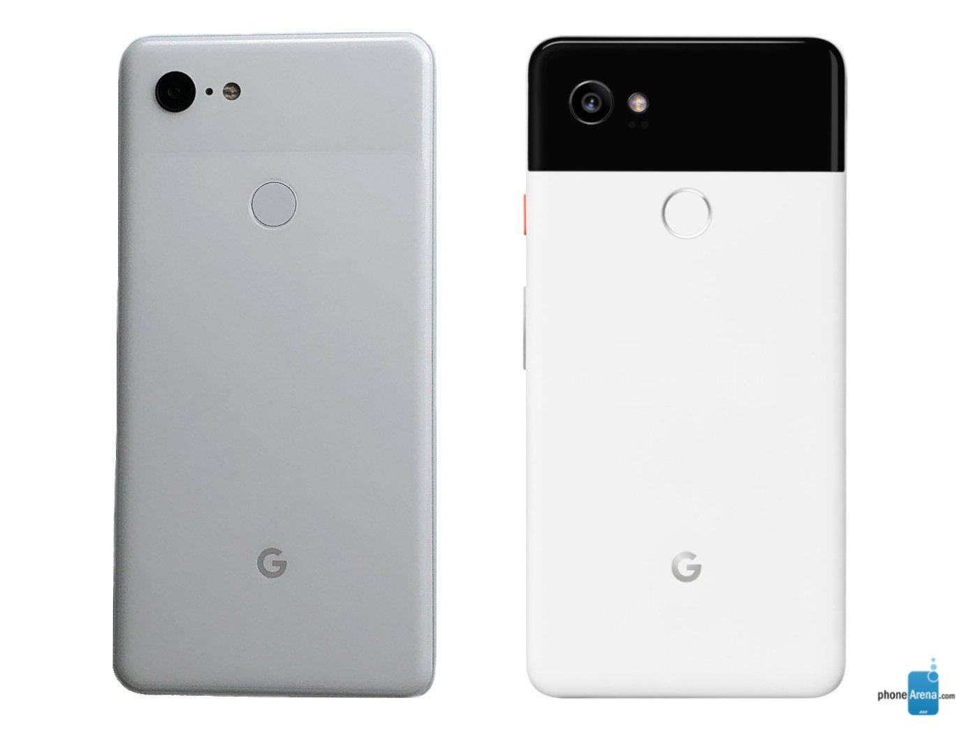 مقارنة الجهة الخلفية بين Pixel 2XL و 3XL