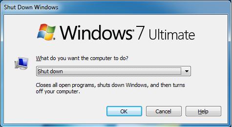 إغلاق جهاز الكمبيوتر
