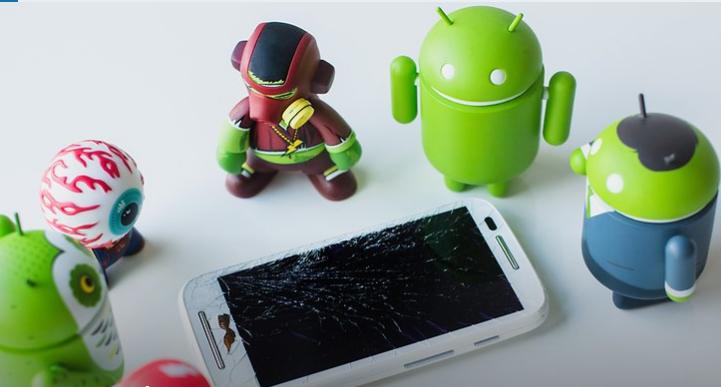 كسر شاشة هاتفك