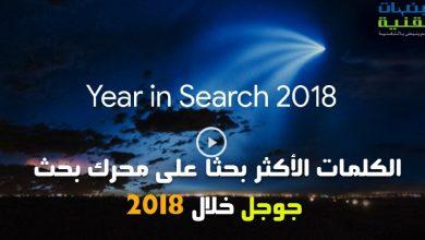 الكلمات الأكثر بحثا على محرك بحث جوجل خلال سنة 2018