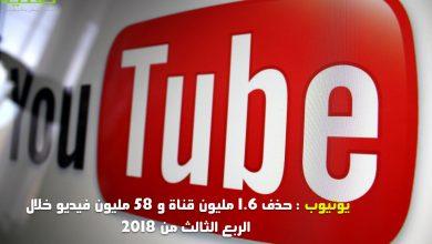 Photo of قوانين يوتيوب :حذف 1.6 قناة و58 مليون فيديو و224 مليون تعليق خلال الربع الثالث من 2018