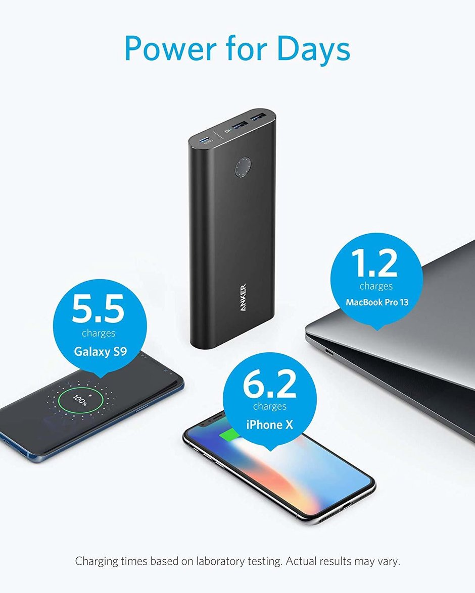 بنك الطاقة Anker PowerCore+ 26,800mAh