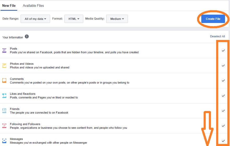حذف فيسبوك