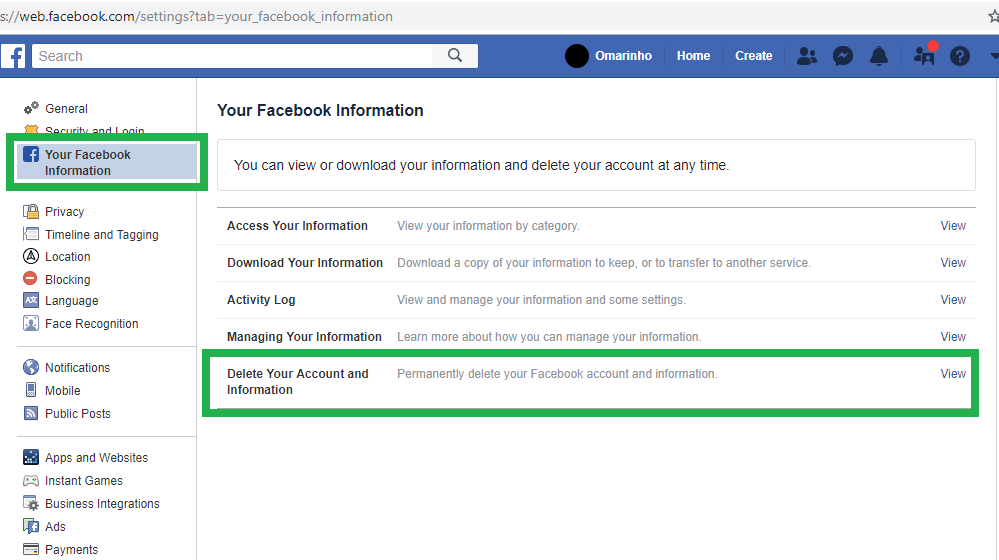 كيف احذف فيسبوك نهائيا