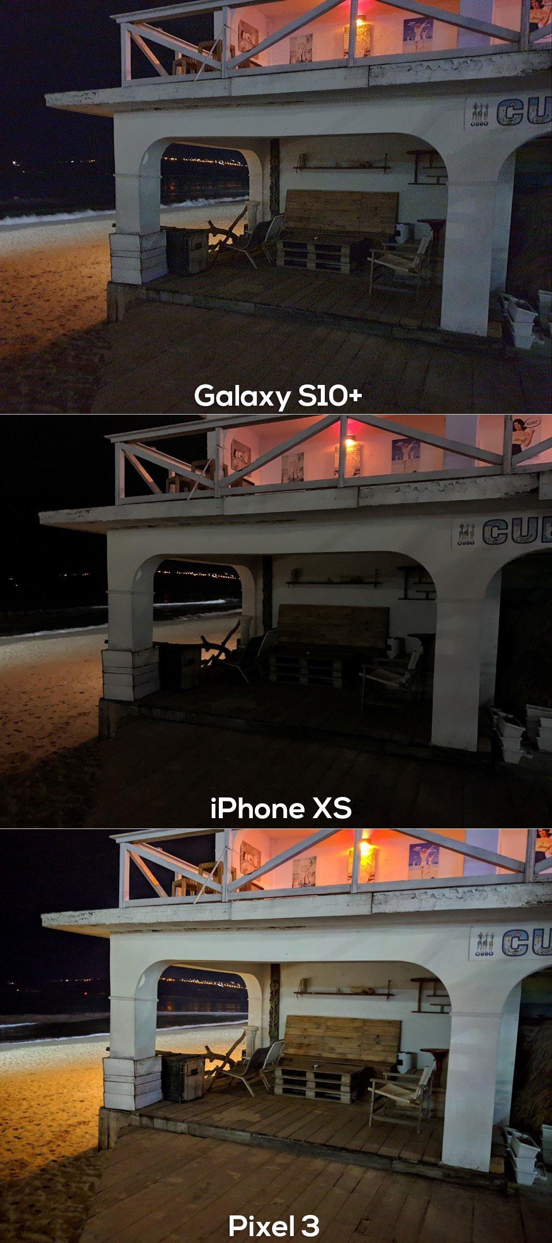 كاميرات هواتف جالكسي اس 10 بلس و ايفون اكس اس و بيكسل 3