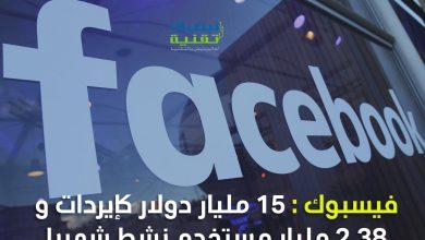 Photo of النتائج المالية لفيسبوك : ارتفاع في المداخيل وعدد المستخدمين خلال الربع الأول من 2019