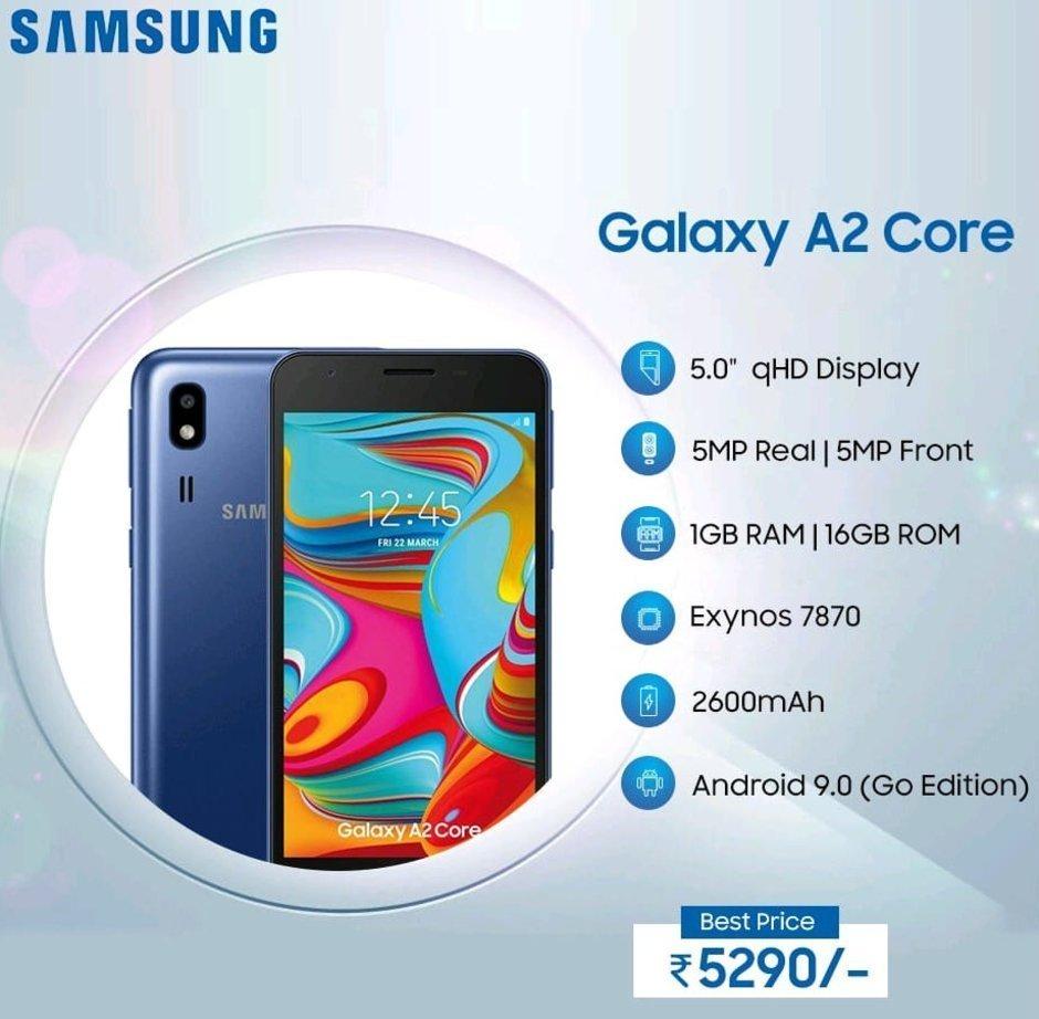 مواصفات هاتف سامسونج Galaxy A2 Core