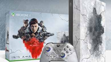 صورة نسخة خاصة من كونسول Xbox One X بثيم لعبة Gears 5