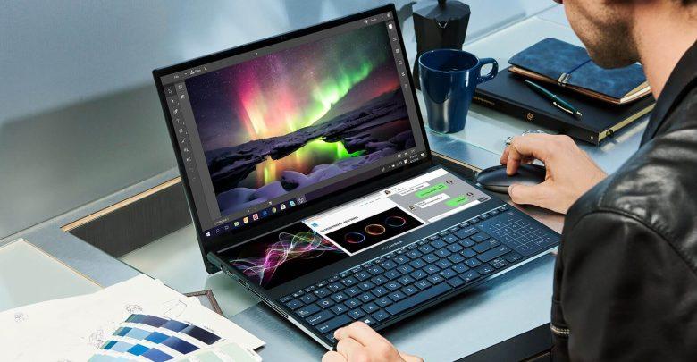 Photo of الإعلان عن لابتوب ZenBook Pro Duo بشاشتين