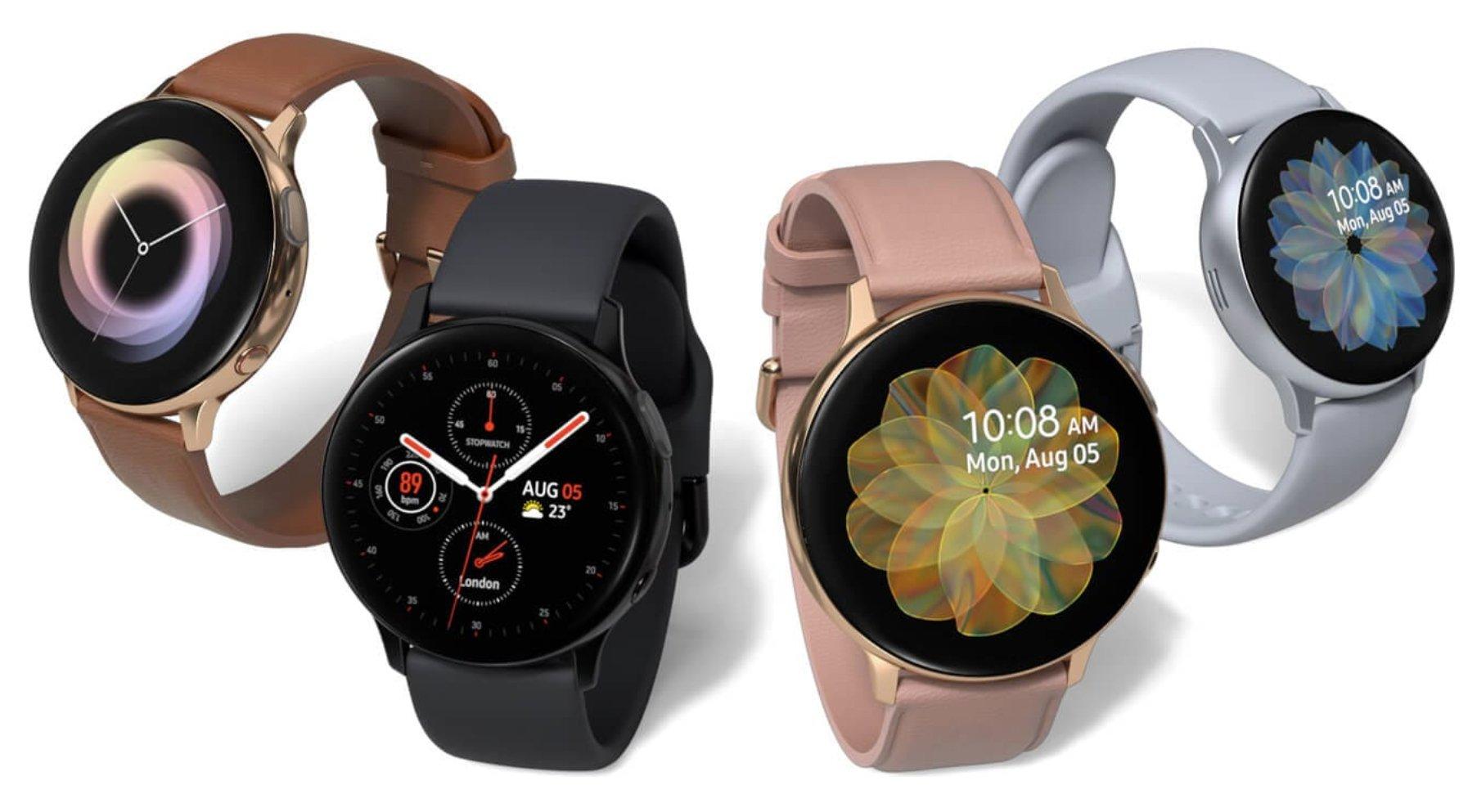 ساعات اليد Galaxy Watch Active 2 الجديدة