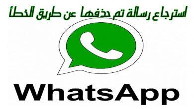 صورة كيفية استرجاع رسالة تم حذفها عن طريق الخطأ على الواتساب WhatsApp