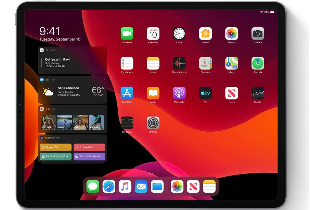 نظام تشغيل iPadOS