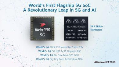 صورة رقاقة Kirin 990 الجديدة من هواوي مع مودمات 5G مدمجة
