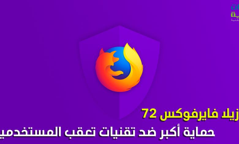 Photo of فايرفوكس 72 : حماية أكبر لخصوصية المستخدمين