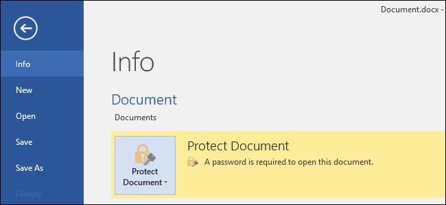 إزالة حماية مستند ملف الوورد Word برقم سري