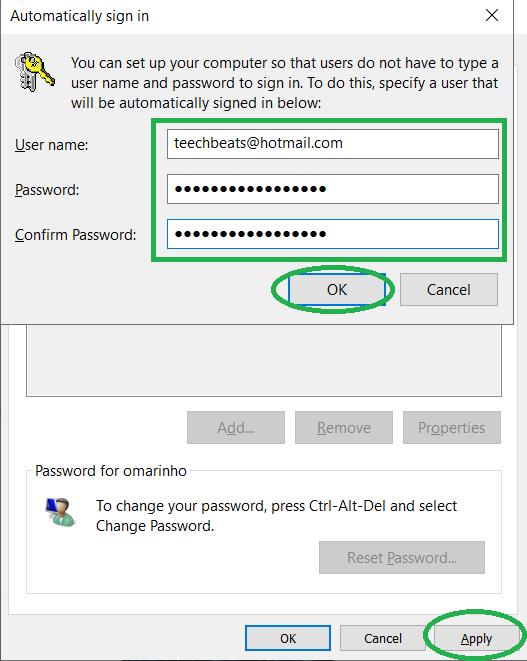 كيفية حذف كلمة المرور من الكمبيوتر