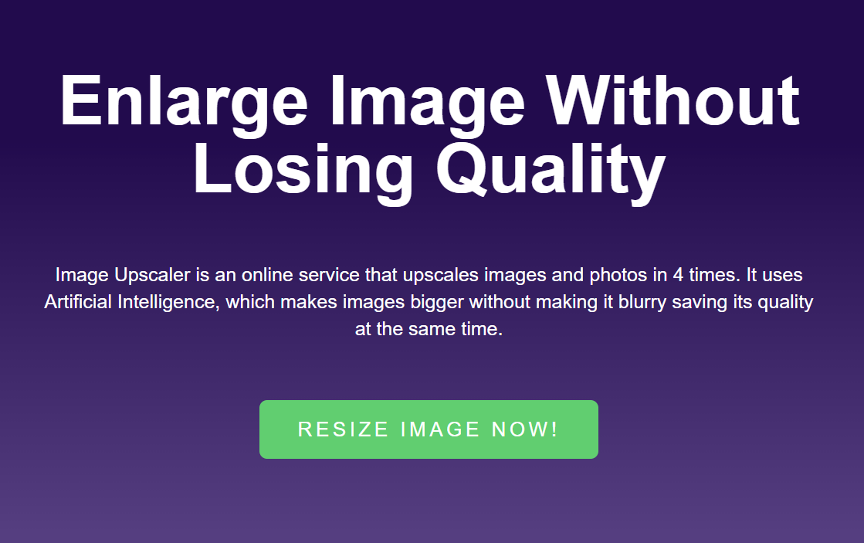 موقع Image Upscaler