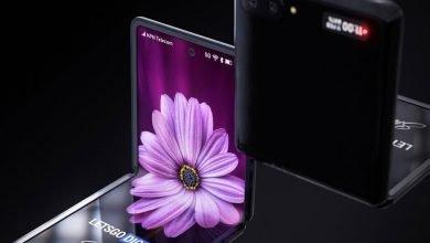 Photo of شاهد فيديو عالي الدقة يكشف عن تصميم جوال Samsung Galaxy Z Flip