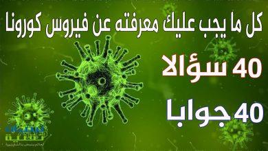 Photo of فيروس كورونا : تجد هنا جميع الإجابات للأسئلة التي تخطر على بالك عن الفيروس