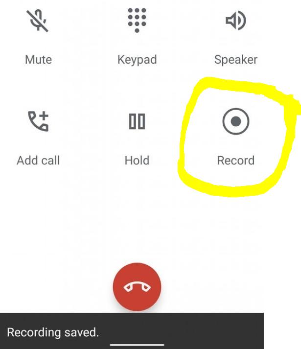 تسجيل المكالمة الصوتية