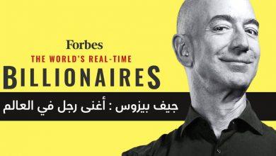 صورة جيف بيزوس مؤسس ورئيس أمازون : أغنى رجل في العالم للسنة الثالثة على التوالي