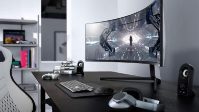 Photo of إطلاق شاشة سامسونج المنحنية Odyssey G7 والمخصصة للألعاب