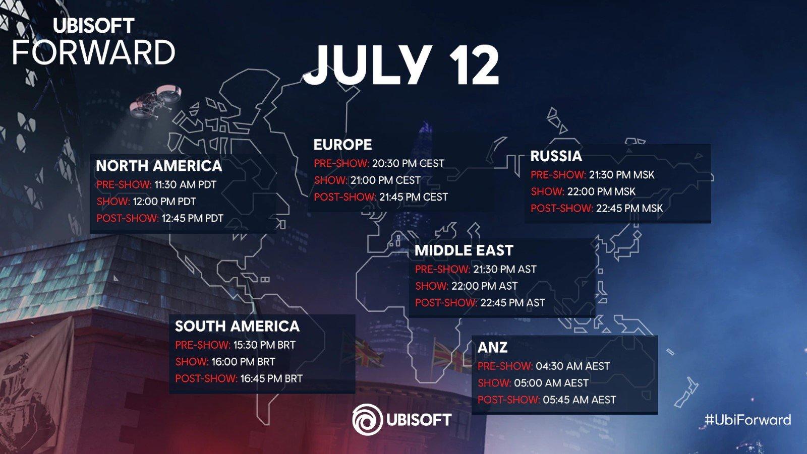 موعد حدث Ubisoft Forward