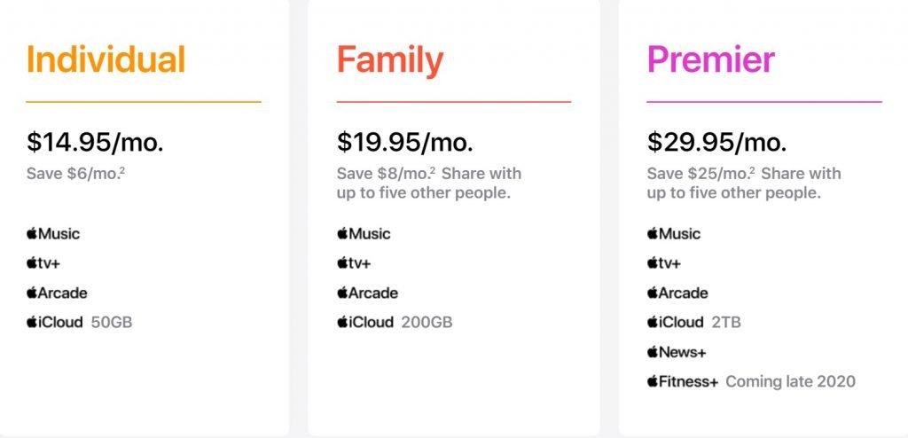 سعر خدمة Apple One في أمريكا والدول الأوروبية